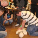Teaching CPR at APHS