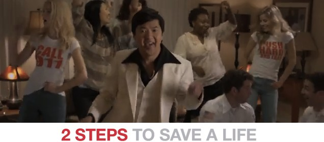 Hands Only CPR - Ken Jeong Style - Stayin Alive 2 Steps