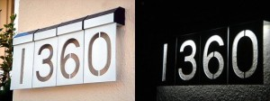 LED Solar House Number Lights