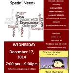 December 17th 2014 CME Psychiatric/Special Needs