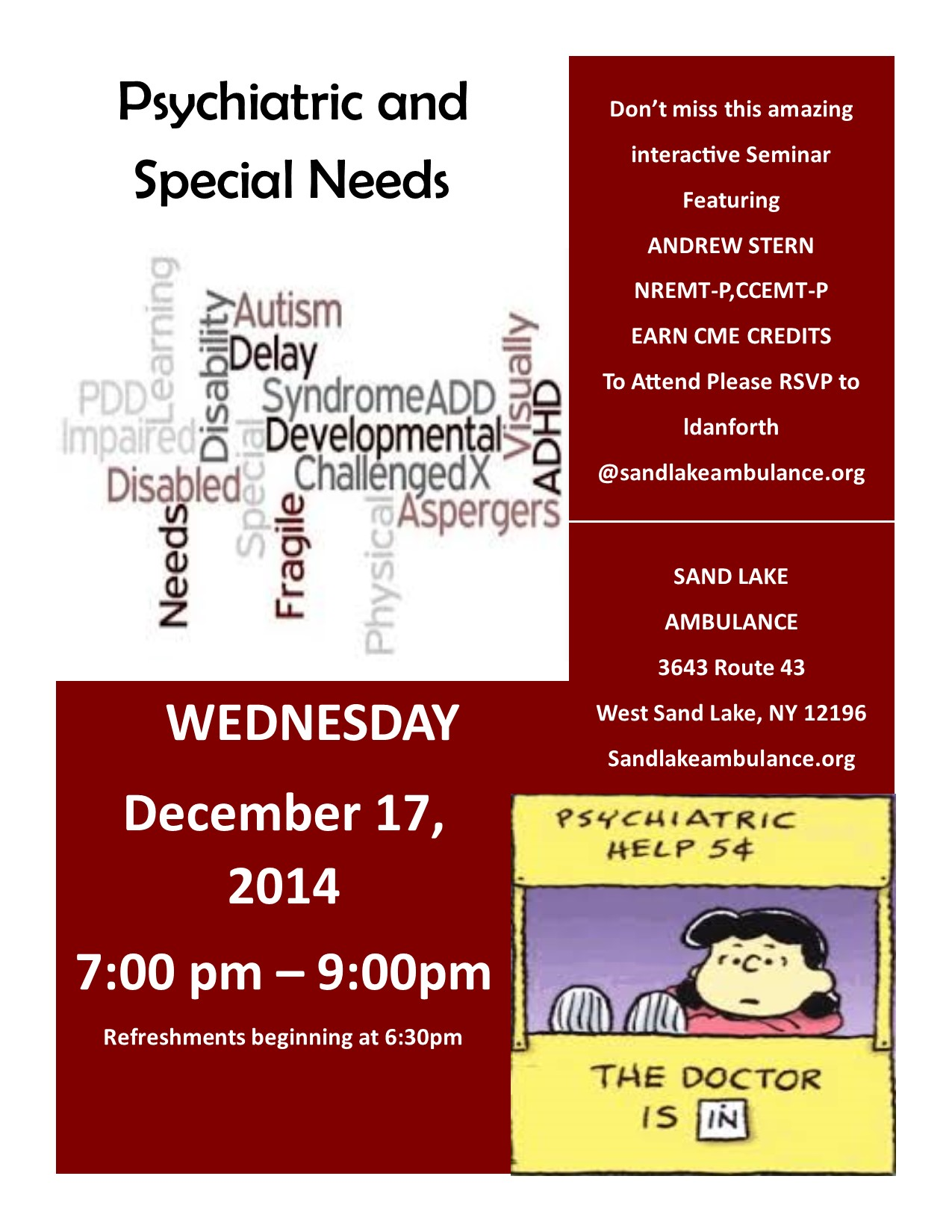 Psychiatric Special Needs December CME 2014