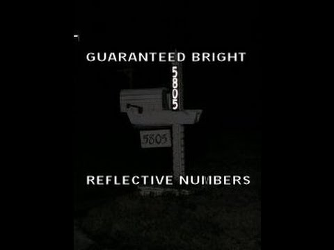 reflective house numbers